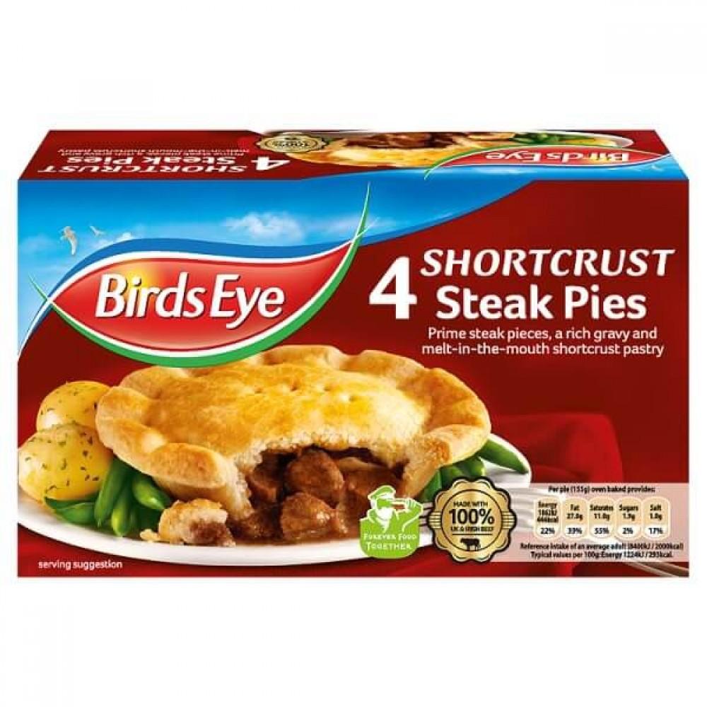 Birds Eye 4 Shortcrust Steak Pies M3 Distribution