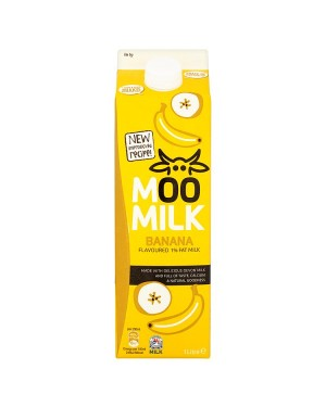 M3 Distribution Services Moo Milk Banana Milkshake 1Litre