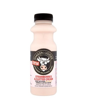M3 Distribution Services Irish Food Wholesale Shaken Udder Strawberries & Clotted Cream Milkshake 330ml