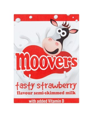 M3 Distribution Services Irish Food Wholesaler Moovers Strawberry Flavoured Milk (12x200ml)