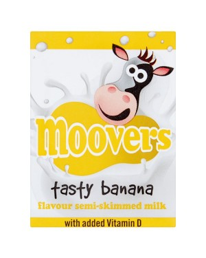 M3 Distribution Services Irish Food Wholesaler Moovers Banana Flavoured Milk (12x200ml)