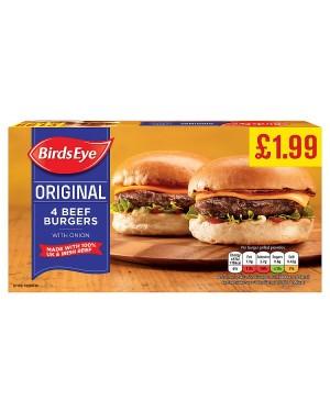 Birds Eye 4 Beef Burgers PM£1.99 (10x227 G)