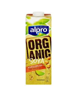 M3 Distribution Services Alpro UHT Soya Unsweetened Organic 1Litre