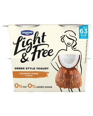 M3 Distribution Services Irish Food Wholesaler Danone Light & Free Coconut (5x4x115g)