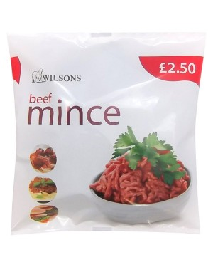 M3 Distribution Services Irish Food Wholesale Wilsons Minced Beef PM£2.50