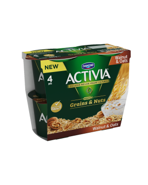 M3 Distribution Services Irish Food Wholesaler Danone Activia Walnut & Oats (6x4x120g)