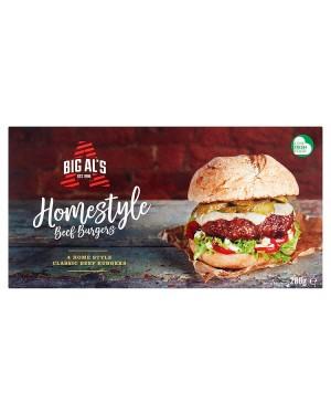 M3 Distribution Big Al's 4 Homestyle Beef Burgers