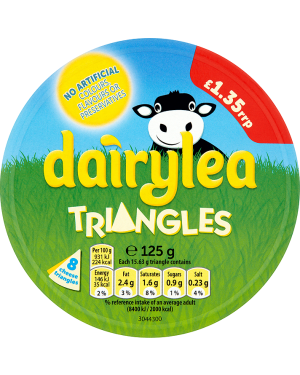 M3 Distribution Services Irish Food Wholesaler Dairylea Cheese Triangles PM£1.35 (12x125g)