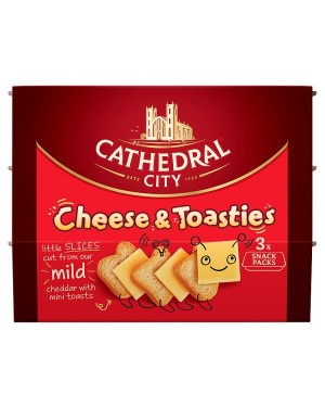 M3 Distribution Services Cathedral City Cheese & Toasties 3x Snack Packs