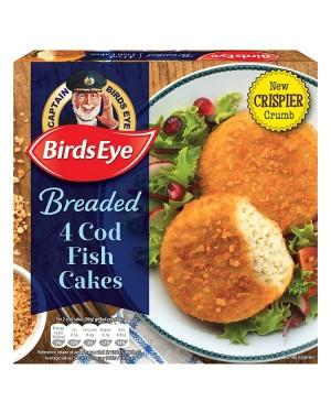 M3 Distribution Services Irish Food Wholesaler Birds Eye Cod Fishcakes Breaded 4Pk (8x198g)