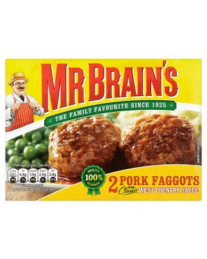 M3 Distribution Mr Brains 2 Pork Faggots with West Country Sauce