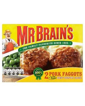 M3 Distribution Services Irish Food Wholesaler Mr Brain's 2 Pork Faggots (12x2pack)