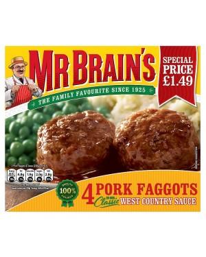 M3 Distribution Services Irish Food Wholesaler Mr Brain's 4 Pork Faggots PM£1.49 (12x4pack)