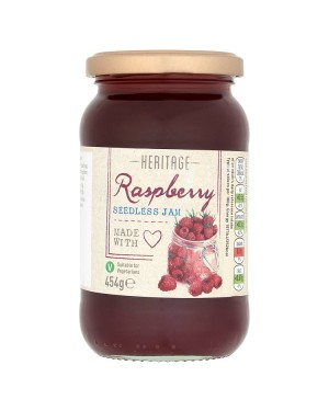 M3 Distribution Bulk Irish Wholesale Heritage Seedless Raspberry Jam 454g