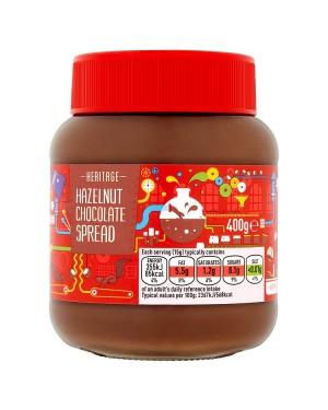 M3 Distribution Bulk Irish Wholesale Heritage Hazelnut Chocolate Spread 400g