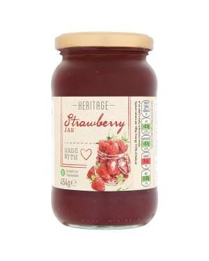 M3 Distribution Bulk Irish Wholesale Heritage Strawberry Jam 454g
