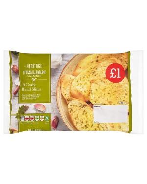 M3 Distribution Services Irish Food Wholesaler Heritage 10 Garlic Bread Slices PM£1 (12x260g)