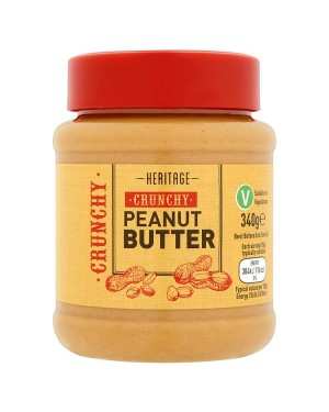M3 Distribution Bulk Irish Wholesale Heritage Crunchy Peanut Butter 340g