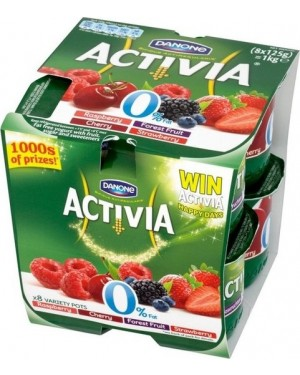 M3 Distribution Services Irish Food Wholesaler Danone Activia Mixed Fruits (6x8x125g)