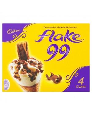 M3 Distribution Services Irish Food Wholesaler Cadbury Flake Cone 4pack PM£3.29 (6x4pack)