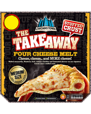M3 Distribution Chicago Town Takeaway Stuffed Crust Four Cheese Melt - Medium Pizza