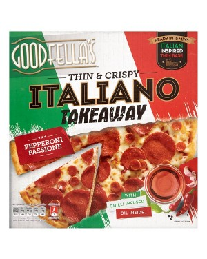 M3 Distribution Goodfellas Thin and Crispy Italiano Takeaway Pepperoni