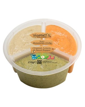 M3 Distribution Services Harriets Garden Trio Houmous 210g