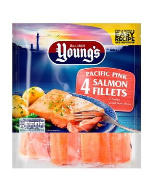 M3 Distribution Services Irish Food Wholesale Young's 4 Pacific Pink Salmon Fillets