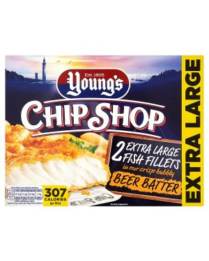 M3 Distribution Services Irish Food Wholesale Young's Chip Shop 2 Extra Large Fish Fillets in Beer Batter
