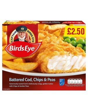 """Birds Eye Battered Cod, Chips & Peas PMP ï¾ÃÆâ€â"""""""