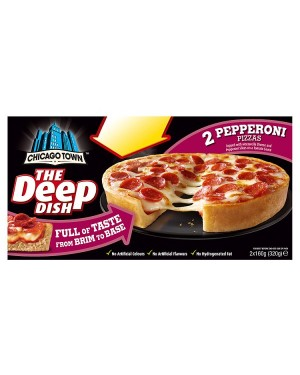 M3 Distribution Chicago Town 2 Deep Dish Pepperoni Pizzas PMÃ'ÂÃâ€