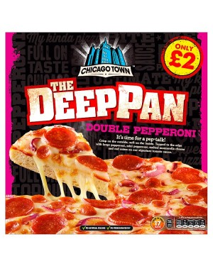 M3 Distribution Chicago Town Deep Pan Double Pepperoni Pizza PMÃ'ÂÃâââ€