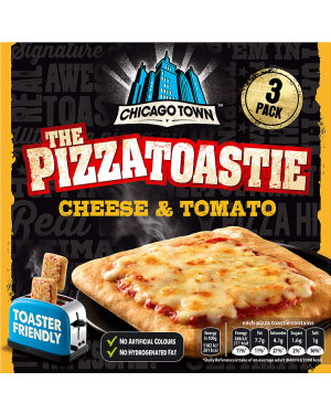 M3 Distribution Chicago Town 3pack Pizza Toasties - Cheese and Tomato