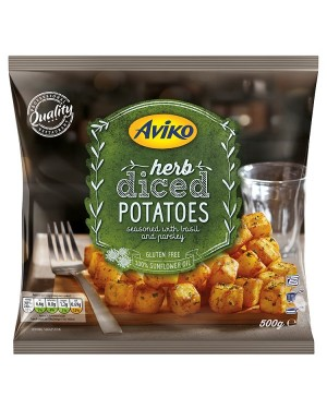 M3 Distribution Services Irish Food Wholesale Aviko Herb Diced Potatoes 500g