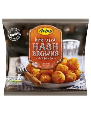 M3 Distribution Services Irish Food Wholesale Aviko Hash Brown Bites 500g