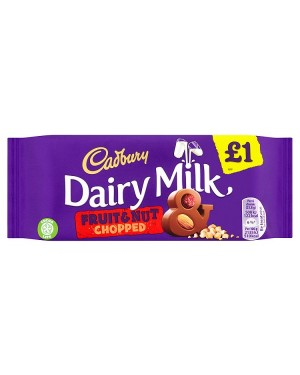 M3 Distribution Services Irish Food Wholesaler Cadbury Dairy Milk Fruit & Nut PM£1 (22x95g)