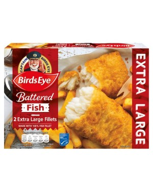 M3 Distribution Services Irish Food Wholesaler Birds Eye 2 XL Battered Fish (8x2pack)