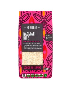 M3 Distribution Services Wholesale Food Heritage Basmati Rice 500g