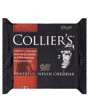 M3 Distribution Services Collier's Powerful Welsh Cheddar 200g