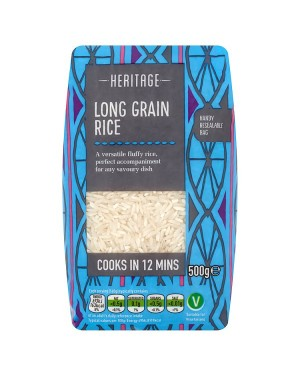 M3 Distribution Services Wholesale Food Heritage Long Grain Rice 500g