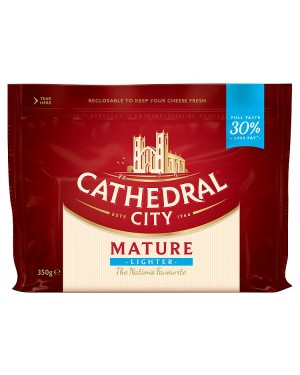 M3 Distribution Services Cathedral City Mature Lighter Cheddar 350g