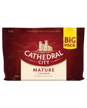 M3 Distribution Services Cathedral City Mature Cheddar Big Pack 550g