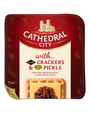 M3 Distribution Services Cathedral City Crackers with Branston Pickle
