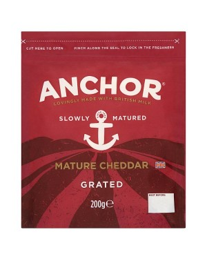 Anchor Mature Grated Cheddar (10x200g)