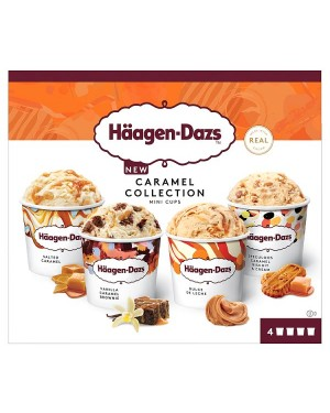 M3 Distribution Services Irish Food Wholesaler Haagen-Dazs Caramel Mini Cups 4pack (12x400ml)