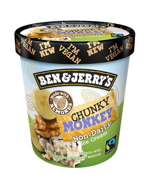 M3 Distribution Services Irish Food Wholesaler Ben & Jerry's Chunky Monkey *Non-Dairy* (8x500ml)