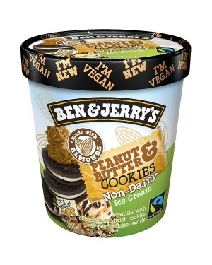 M3 Distribution Services Irish Food Wholesaler Ben & Jerry's Peanut Butter Cookies *Non-Dairy* (8x500ml)