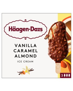 M3 Distribution Haagen-Dazs Vanilla Caramel Almond 3 Pack Ice Creams