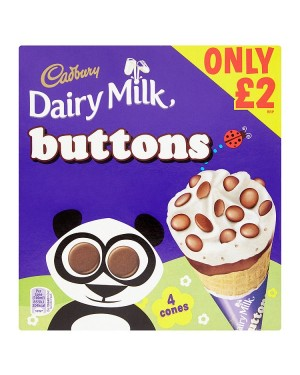 M3 Distribution Cadbury Dairy Milk Buttons Cones 4pack