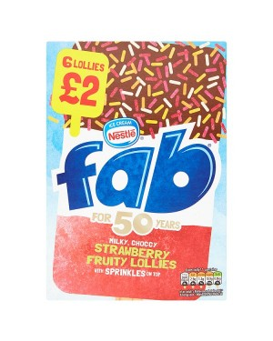 M3 Distribution Services Irish Food Wholesaler Nestle Fab Lolly PM£2 (8x6pack)